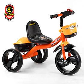 Велосипед трехколесный детский (колеса EVA, свет, звук) Best Trike 19840 Оранжевый