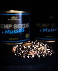 Зернова суміш консервована Carpio - Hemp Seeds+Mussels (Насіння конопель + мідії) - 0.5 л