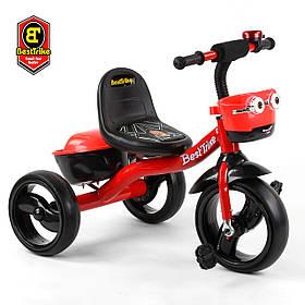 Велосипед трехколесный детский (колеса EVA, свет, звук) Best Trike 97282 Красный