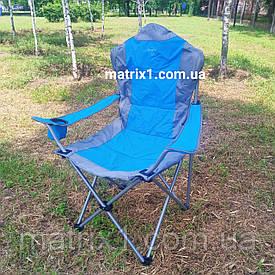 """Крісло велике міцне розкладне з підлокітниками (крісло рибака) """"Еліт"""" 60х60х110см Sunday"""