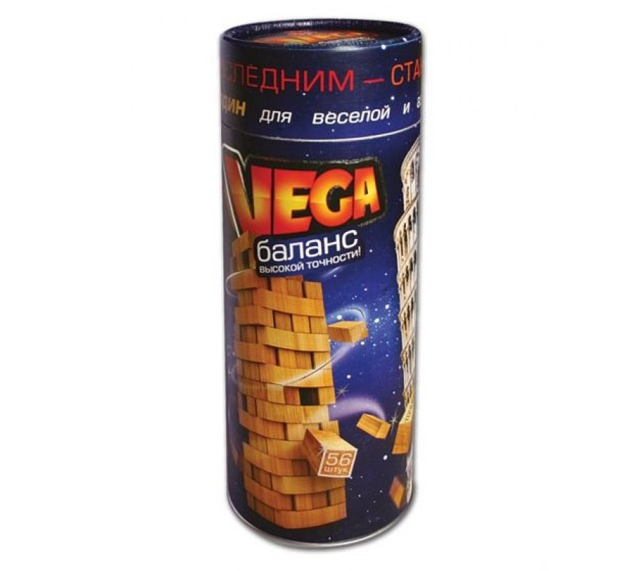 Настольная игра Vega Башня Дженга Jenga, настольная игра падающая Башня Дженга, настольная игра для всей семьи - MegaSmart в Днепре