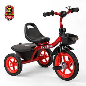 Велосипед трехколесный детский (резиновые колеса, звоночек, 2 корзины) Best Trike BS-1788 Красный