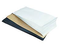Пакет с плоским дном 120х200х80 (250г) БЕЛЫЙ zip-замок боковой