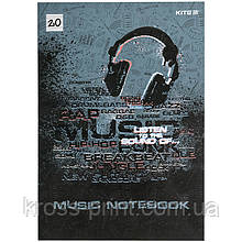 Тетрадь для нот Kite Listen to the sound K21-404, A4, 20 листов