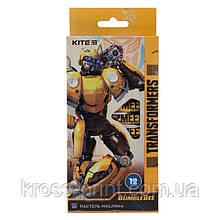 Пастель масляная, 12 цветов, Kite Transformers BumbleBee Movie TF19-071