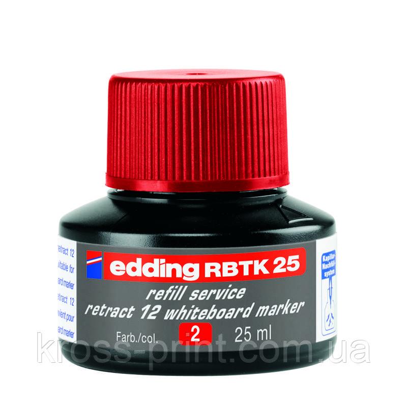 Чорнило для заправки Board e-BTK25 червоні