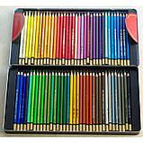 Карандаши цветные акварельные Mondeluz, мет.кор., 72 цв., фото 2