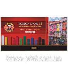 Пастель TOISON d'or, 12 цв.