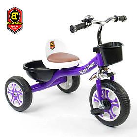 Велосипед трехколесный детский (колеса EVA, звоночек, 2 корзины) Best Trike LM-1355 Фиолетовый