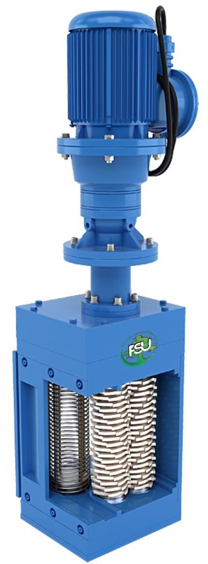 Каналізаційні решітки-дробарки для установки в каналі на трубу Ду 100 типу FSU