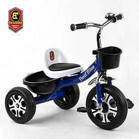 Велосипед трехколесный детский (колеса EVA, звоночек, 2 корзины) Best Trike LM-6122 Синий
