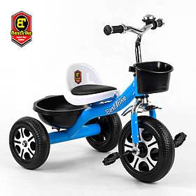 Велосипед трехколесный детский (колеса EVA, звоночек, 2 корзины) Best Trike LM-4405 Голубой