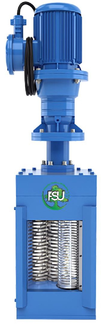 Канализационные решетки-дробилки для установки в канале на трубу Ду 150 типа FSU