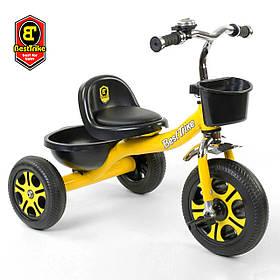 Велосипед трехколесный детский (колеса EVA, звоночек, 2 корзины) Best Trike LM-9033 Жёлтый