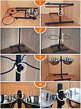 Стійка з мисками для собак 32/22см 1,7 л, фото 5