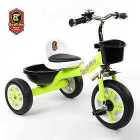 Велосипед трехколесный детский (колеса EVA, звоночек, 2 корзины) Best Trike LM-3109 Зелёный