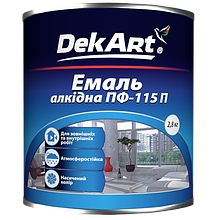 Емаль алкідна DekArt ПФ-115П світло-блакитна 2,8 кг