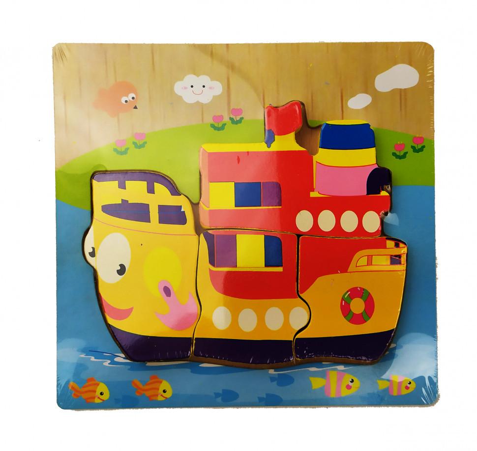 Дитячі розвиваючі пазли MD 0904 дерев'яні (Кораблик)
