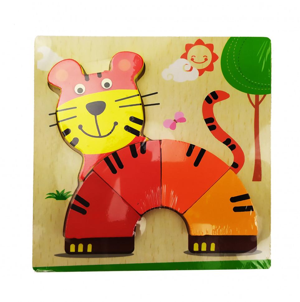 Дитячі розвиваючі пазли MD 0904 дерев'яні (Тигр)