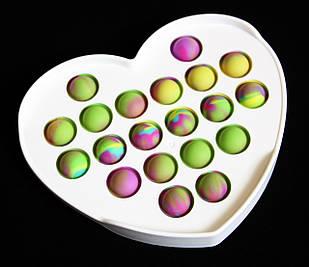 Игрушка pop in антистресс в пластике разноцветная в форме сердца