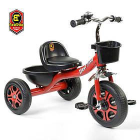 Велосипед трехколесный детский (колеса EVA, звоночек, 2 корзины) Best Trike LM-3577 Красный