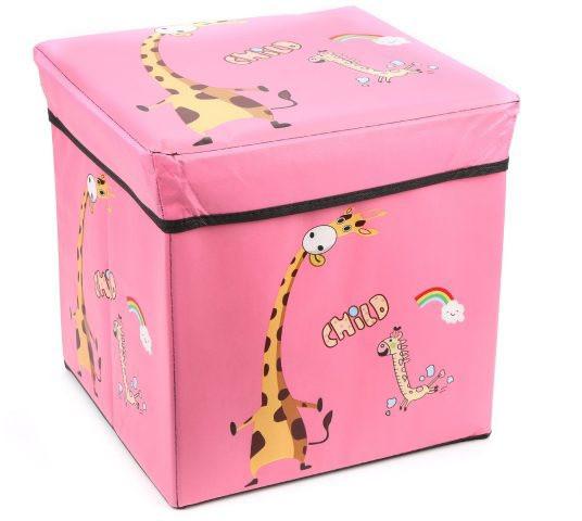 Коробка-пуфик для іграшок MR 0364-2, ,31-31-31см (Рожевий)