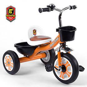 Велосипед трехколесный детский (колеса EVA, звоночек, 2 корзины) Best Trike LM-5207 Оранжевый