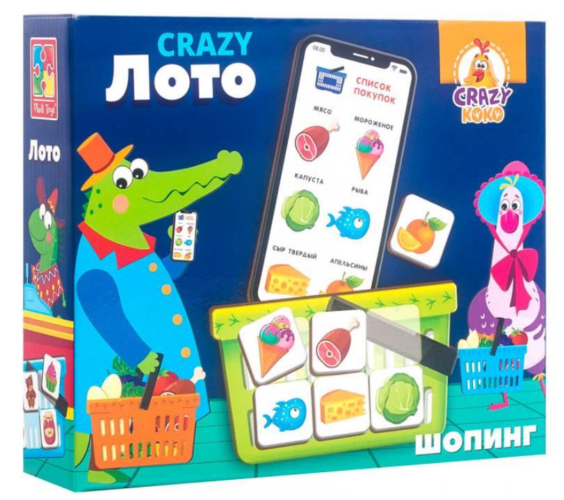 """Дитяча настільна гра """"Crazy Лото"""" VT8055-03 рос. мовою"""