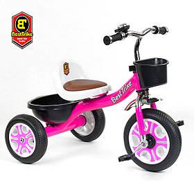 Велосипед трехколесный детский (колеса EVA, звоночек, 2 корзины) Best Trike LM-2806 Розовый