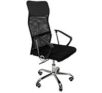 Современное офисное кресло с высокой спинкой и колесиками, удобное кресло-стул для дома, черное
