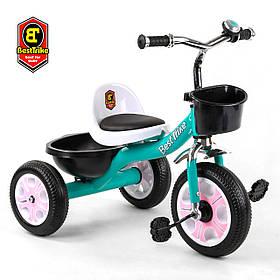 Велосипед трехколесный детский (колеса EVA, звоночек, 2 корзины) Best Trike LM-7309 Бирюзовый