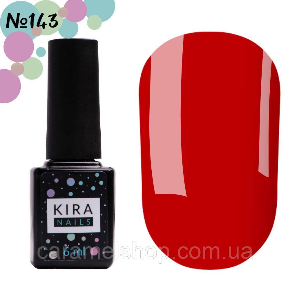 Гель-лак Kira Nails №143 (темно-морковный, эмаль), 6 мл