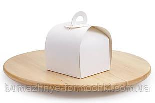 """Коробка для десертів """"Скринька"""" 110*110*80, біла (50 штук)"""