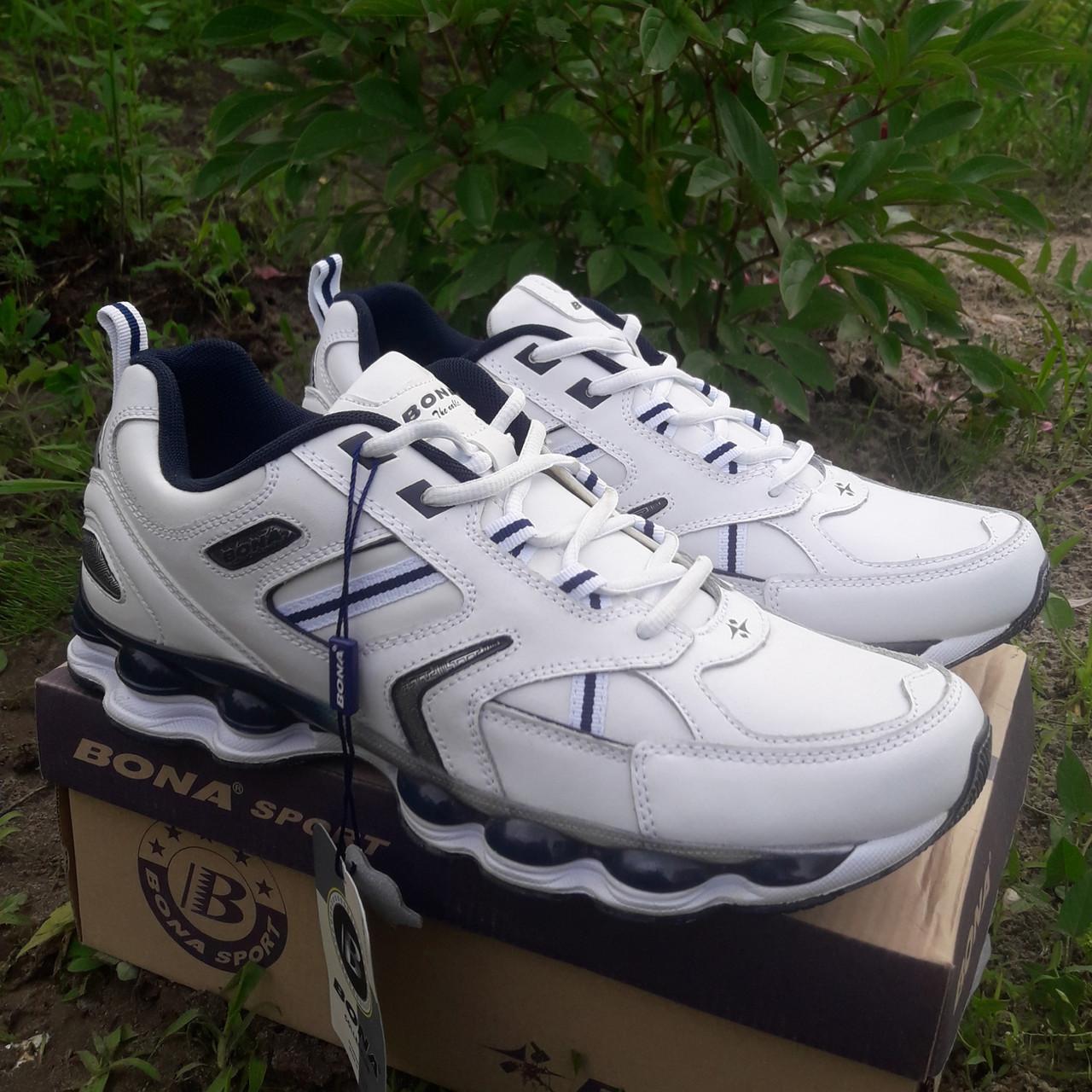 Кроссовки кожаные Bona р.45 белые