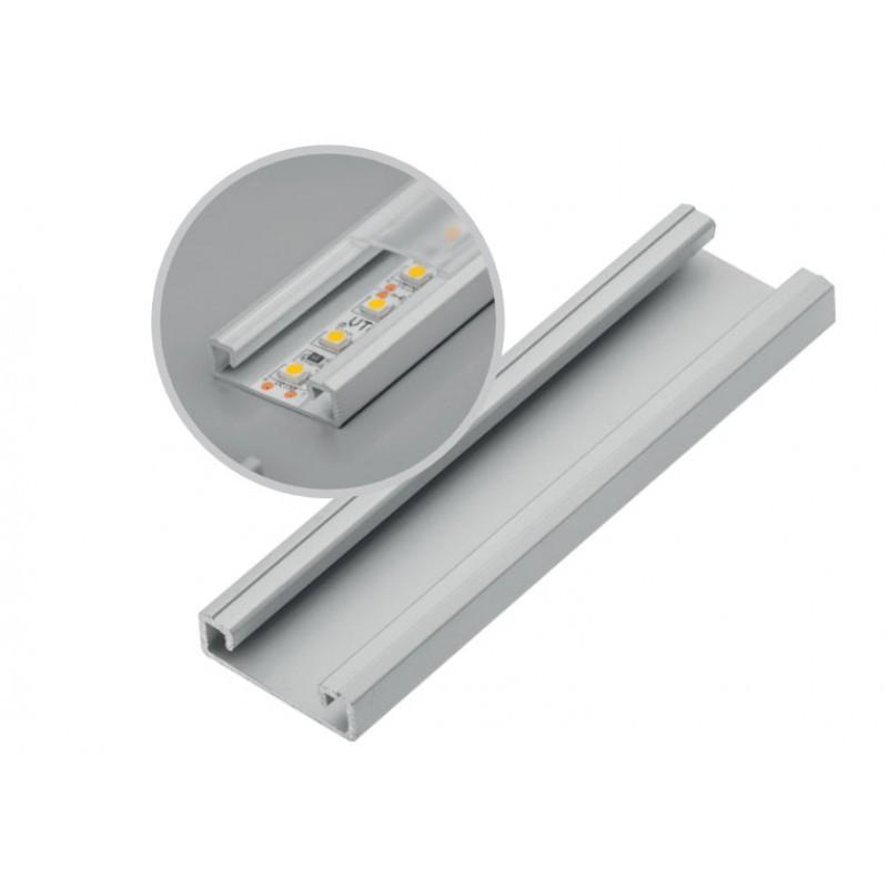 Профиль накладной PA-GLAXNK-AL 22*6, 9*2000 алюминиевый для светодиодной ленты