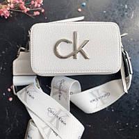 Жіноча сумка крос боді Calvin Klein White | Клатч Кельвін Кляйн Білий