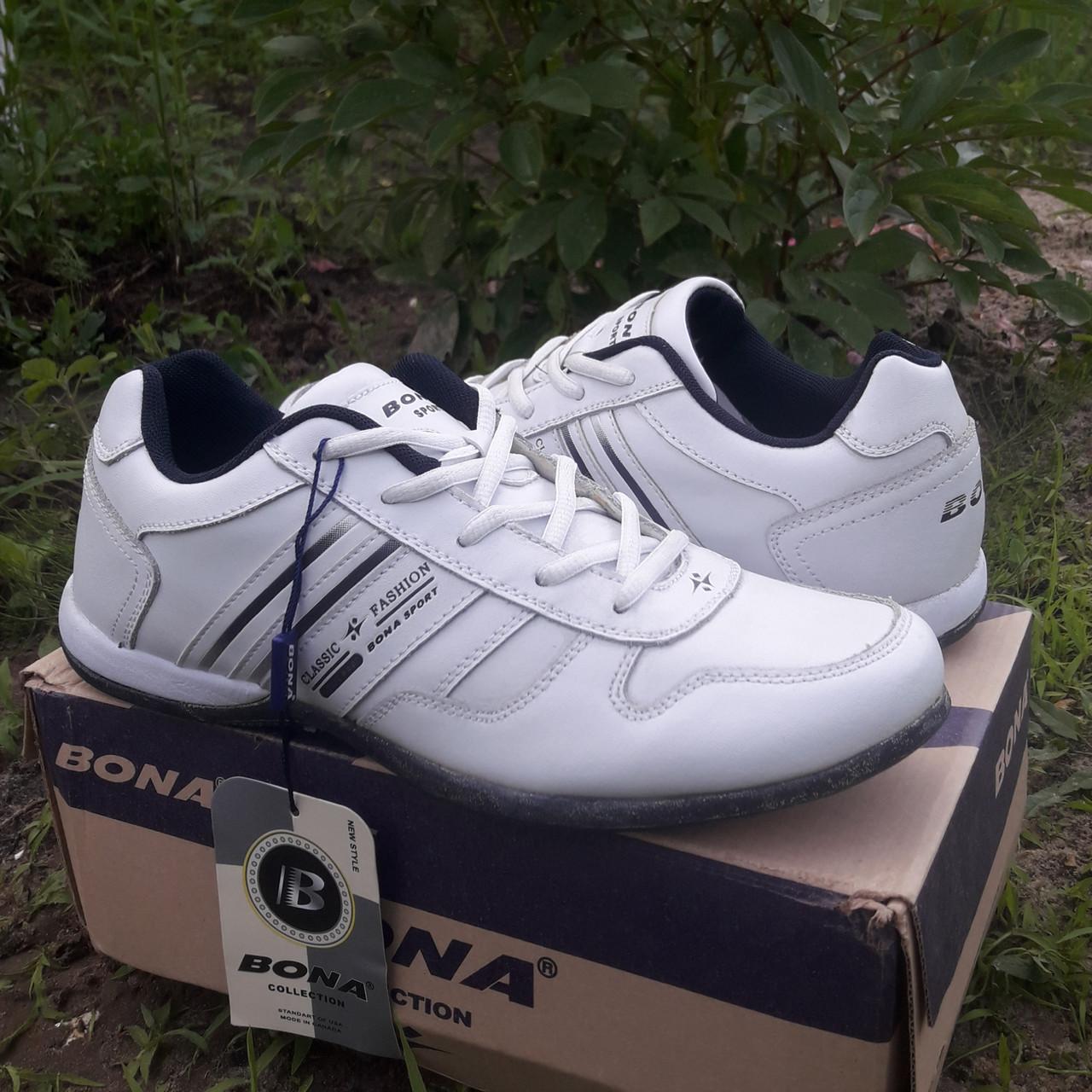 Кроссовки кожаные Bona р.43 белые