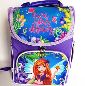 Каркасный рюкзак-короб с ортопедической спинкой для девочки, Фея