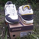 Кроссовки кожаные Bona р.45 белые, фото 6