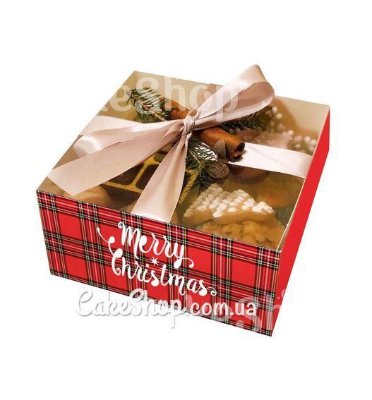 Коробка для десертів з прозорою кришкою Merry Christmas, 16х16х8 см