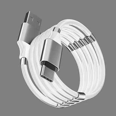 Магнитный Кабель для зарядки телефонов и планшетов USB - micro USB Micro V8 1м Type-C