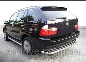 Задня захист (захист заднього бампера) BMW X5 (E53) 2000-2007