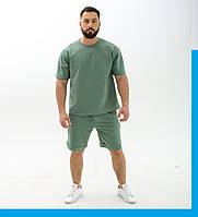 Мужской спортивный костюм Футболка+шорты / Летний комплект свободного кроя Оверсайз