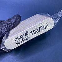 Міні пилки для нігтів миються овальні TINAFOX&BELADONNA 180/240 грит 30 шт