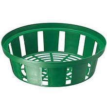 Корзинка для луковиц круглая 23 см зеленая