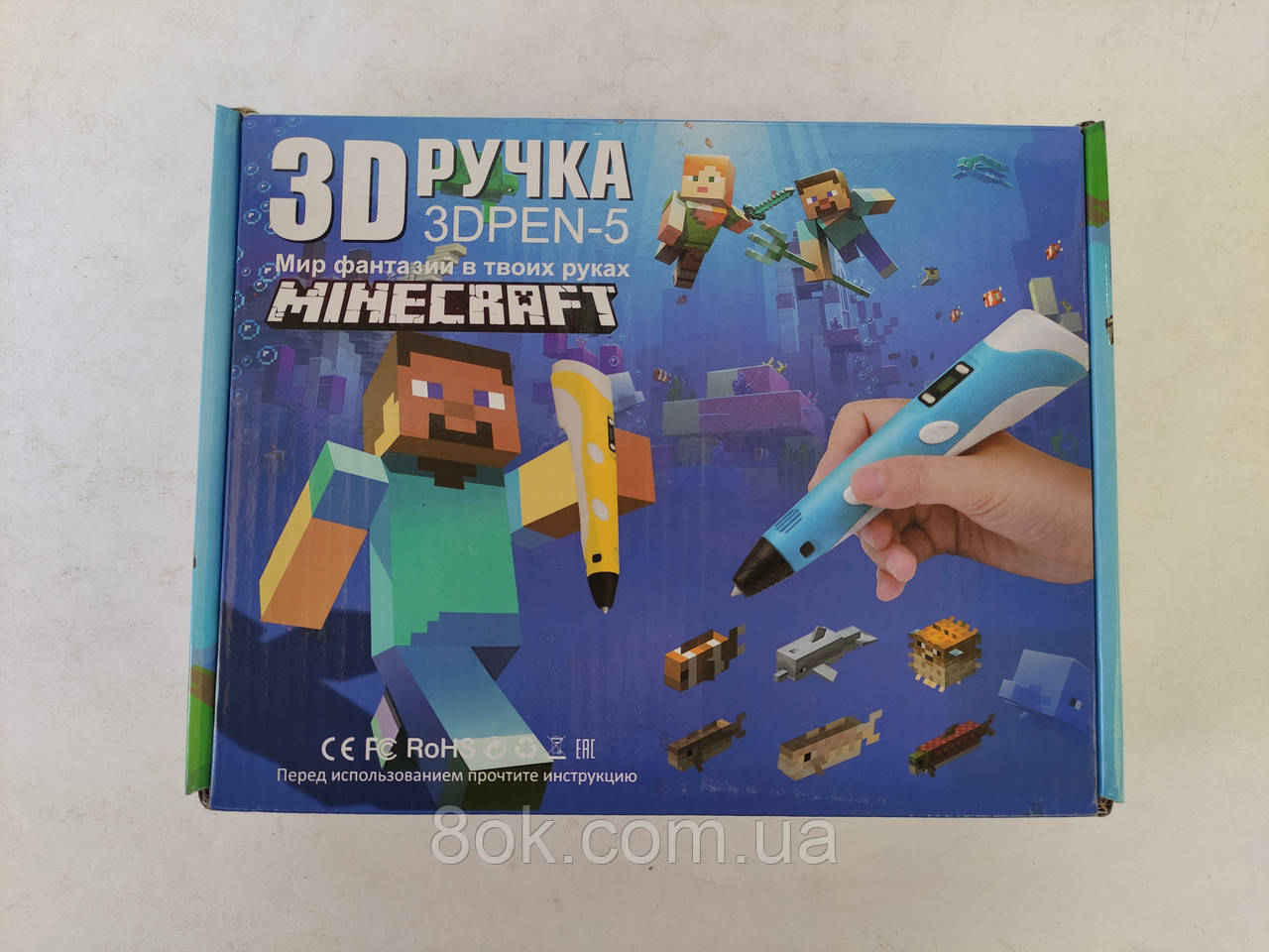 3D ручка з дисплеєм Minecraft