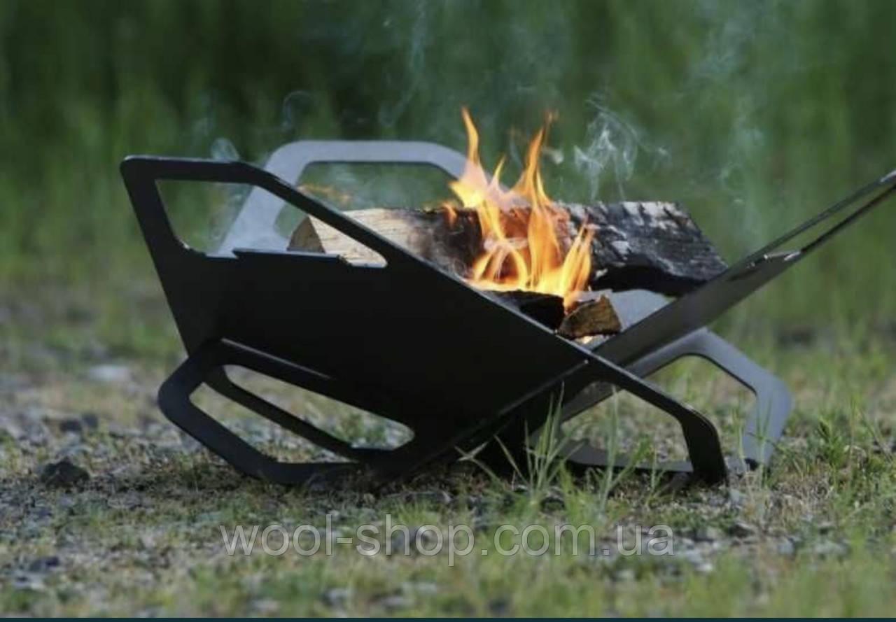 Гриль Fire Flower 350*370 чорна сталь 2мм