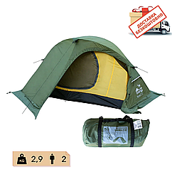 Намет Tramp Sarma 2 м, v2 TRT-030-green. Палатка туристична 2 місна. Намет туристичний