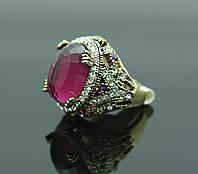 Кольцо перстень с красным камнем купить в Киеве. 100
