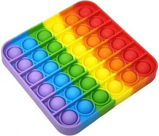 Мягкая игрушка Пупырышки Pop it Поп ит антистресс бесконечная пупырка квадрат